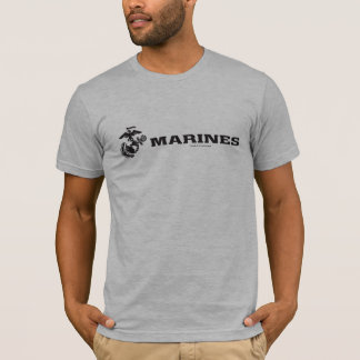USMC Logo - Black T-Shirt