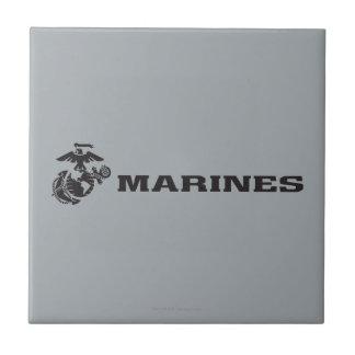 USMC Logo - Black Tile