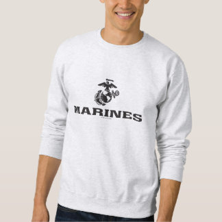 USMC Logo Stacked - Black Sweatshirt