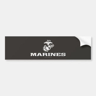 USMC Logo Stacked - White Bumper Sticker