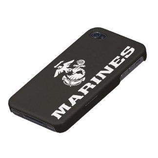 USMC Logo Stacked - White iPhone 4/4S Case