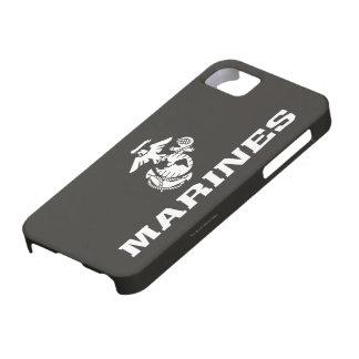 USMC Logo Stacked - White iPhone SE/5/5s Case