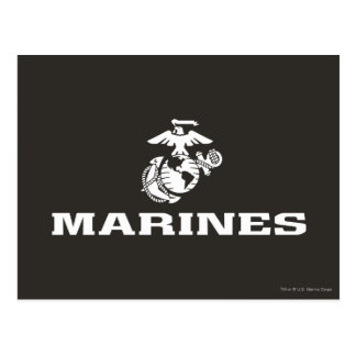 USMC Logo Stacked - White Postcard