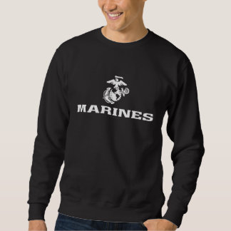 USMC Logo Stacked - White Sweatshirt