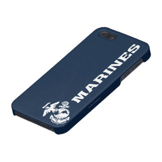 USMC Logo - White Case For iPhone SE/5/5s