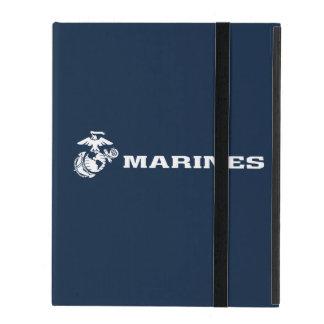 USMC Logo - White iPad Cover