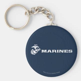 USMC Logo - White Keychain