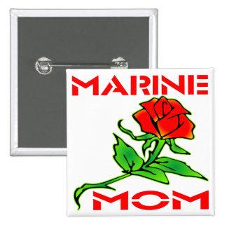 USMC Marine Mom Rose Buttons