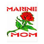 USMC Marine Mom Rose Post Cards