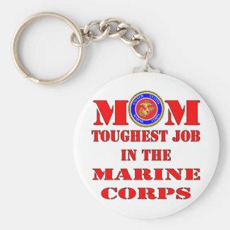 USMC Marine Mom Toughest Job In The Marine Corps Keychain