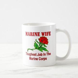 USMC Marine Wife Toughest Job In The Marine Corps Coffee Mug