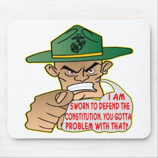 USMC me juran para defender la constitución Tapete De Raton