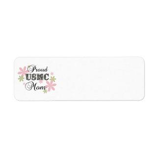 USMC Mom [fl camo] Return Address Label