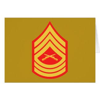 USMC MSgt Master Sergeant E-8 Card