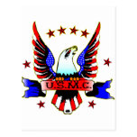 USMC Old School Red White & Blue Eagle Tattoo Postcards