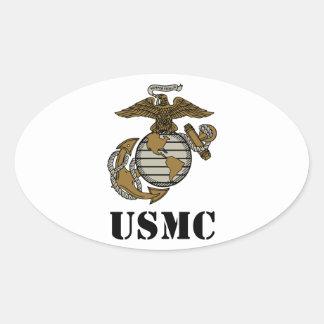 USMC [plantilla] Calcomania De Oval Personalizadas