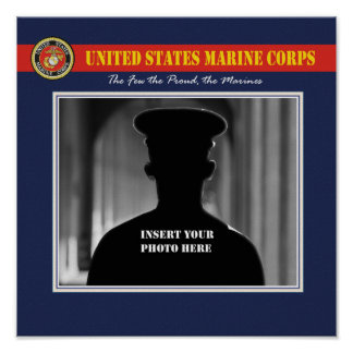 USMC Portrait Photo Page Poster