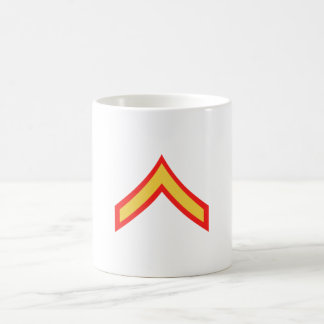 USMC Private First Class Coffee Cup Classic White Coffee Mug