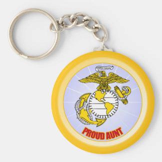 USMC Proud Aunt Keychain