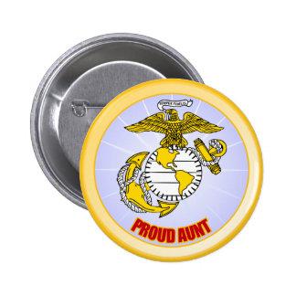 USMC Proud Aunt Pinback Button