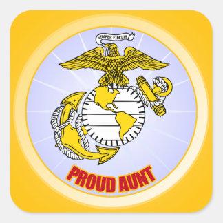 USMC Proud Aunt Square Sticker