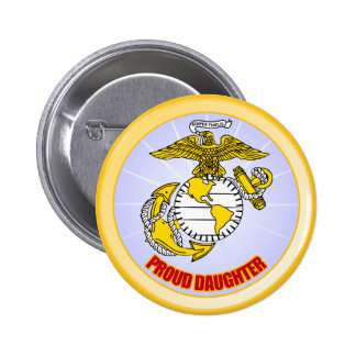 USMC Proud Daughter 2 Inch Round Button