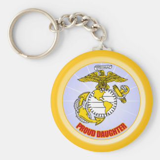 USMC Proud Daughter Keychain