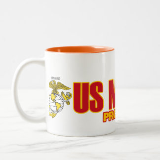 USMC Proud Daughter Two-Tone Coffee Mug