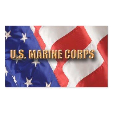 USMC Rectangle Stickers