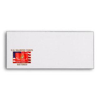 USMC Retired #10 Business Envelope