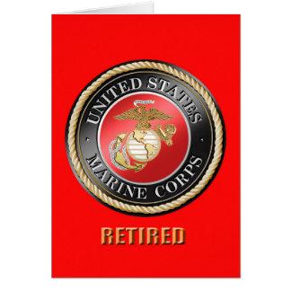 USMC Retired Greeting Card