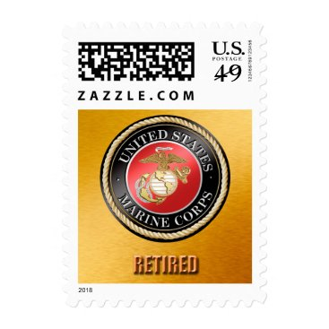USMC Retired Postage Sheet