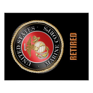USMC Retired Poster