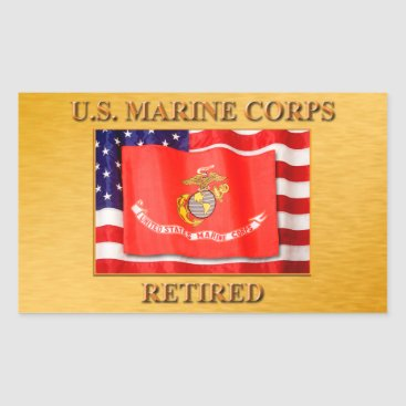 USMC Retired Sticker