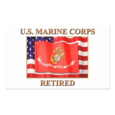USMC Retired Stickers