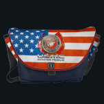 "USMC Semper Fi [3D] Messenger Bag<br><div class=""desc"">Introducing project ""Military Insignia 3D"", featuring top quality military heraldry designs. Here you will find custom gifts decorated with United States Marine Corps (USMC) Emblem. The United States Marine Corps (USMC) is a branch of the United States Armed Forces responsible for providing power projection from the sea, using the mobility...</div>"