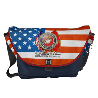 USMC Semper Fi [3D] Messenger Bag