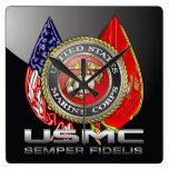 USMC Semper Fi [3D] Wall Clocks