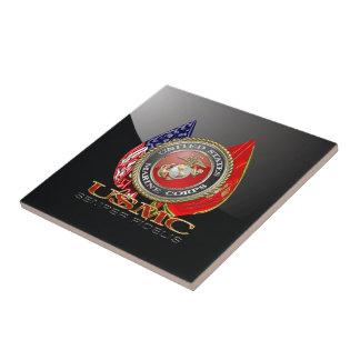 USMC Semper Fi [edición especial] [3D] Azulejo Cuadrado Pequeño