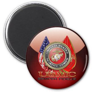 USMC Semper Fi [edición especial] [3D] Imán Redondo 5 Cm