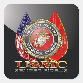 USMC Semper Fi [edición especial] [3D] Colcomanias Cuadradases