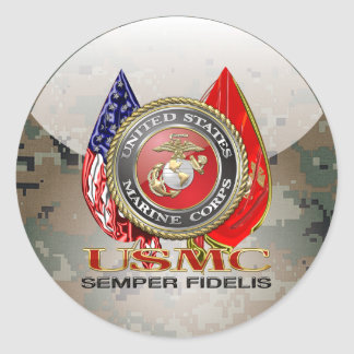 USMC Semper Fi [edición especial] [3D] Etiqueta Redonda