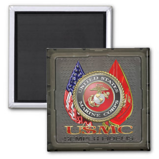 USMC Semper Fi [Special Edition] [3D] 2 Inch Square Magnet