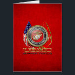 """USMC Semper Fi [Special Edition] [3D] Card<br><div class=""""desc"""">Introducing project """"Military Insignia 3D"""", showcasing top quality military heraldry designs. Here you will find customizable gifts featuring special edition of the USMC Emblem. The United States Marine Corps (USMC) is a branch of the United States Armed Forces responsible for providing power projection from the sea, using the mobility of...</div>"""