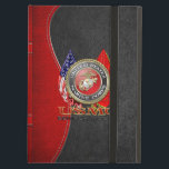 "USMC Semper Fi [Special Edition] [3D] Cover For iPad Air<br><div class=""desc"">Introducing project ""Military Insignia 3D"", showcasing top quality military heraldry designs. Here you will find customizable gifts featuring special edition of the USMC Emblem. The United States Marine Corps (USMC) is a branch of the United States Armed Forces responsible for providing power projection from the sea, using the mobility of...</div>"