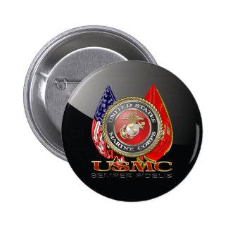 USMC Semper Fi [Special Edition] [3D] Pinback Button