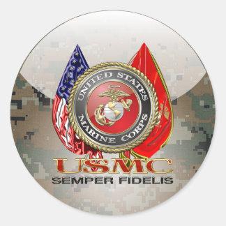 USMC Semper Fi [Special Edition] [3D] Round Sticker