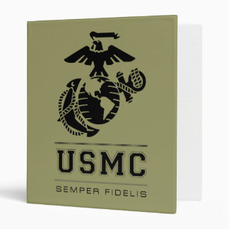 USMC Semper Fidelis [Semper Fi] 3 Ring Binder