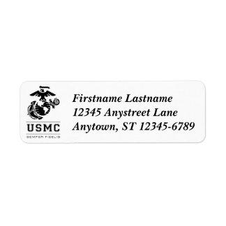USMC Semper Fidelis [Semper Fi] Etiquetas De Remite
