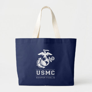 USMC Semper Fidelis [Semper Fi] Large Tote Bag